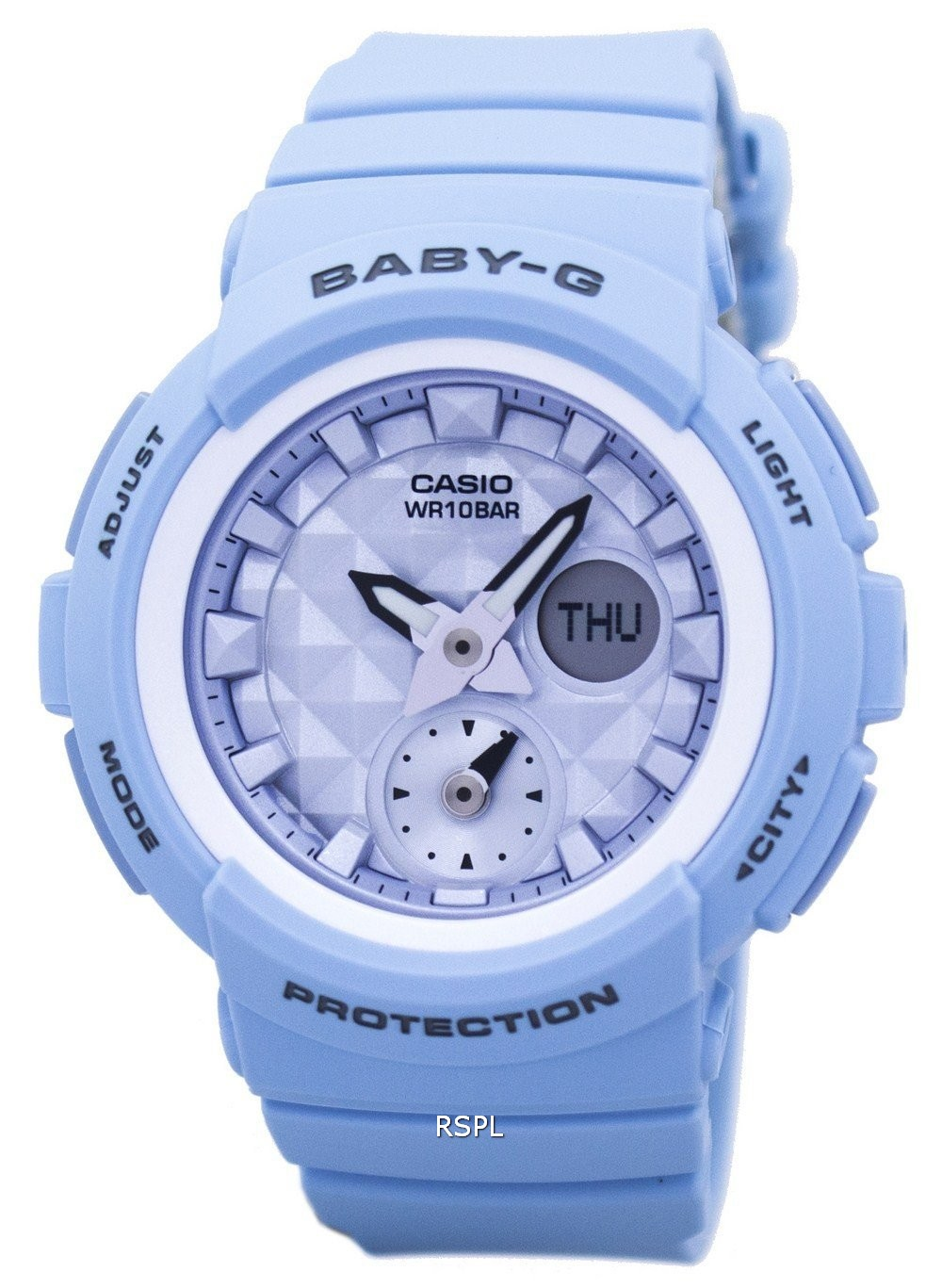 af6ab5ff5e9 Casio Baby-G Shock Resistant World Time Analog Digital BGA-190BE-2A Women s  Watch