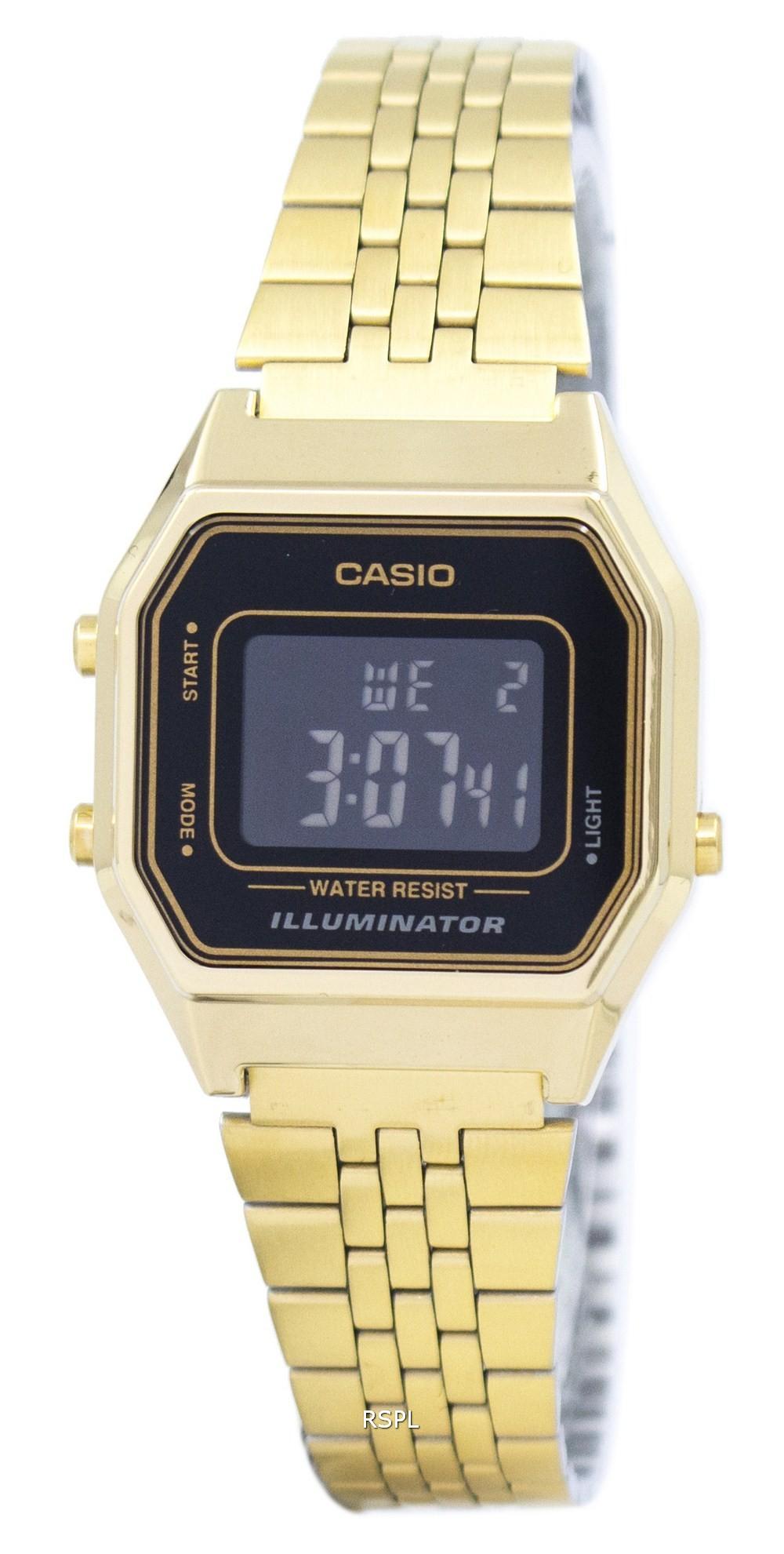 7965da4f5 Casio Digital Quartz Stainless Steel Illuminator LA680WGA-1BDF LA680WGA-1B Women's  Watch