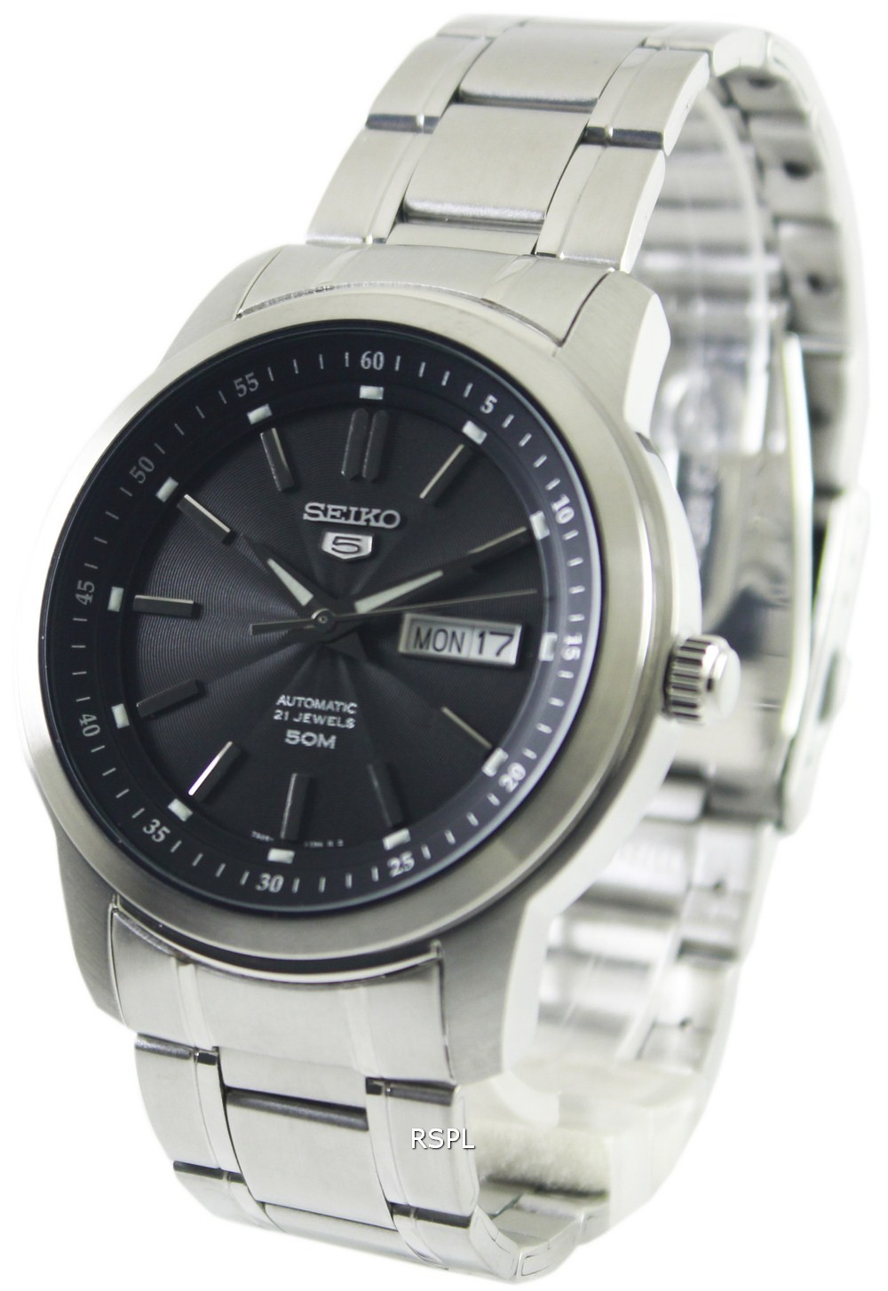 Details about Seiko 5 Automatic 21 Jewels SNKM87K1 SNKM87K Mens Watch 49b804e7fff